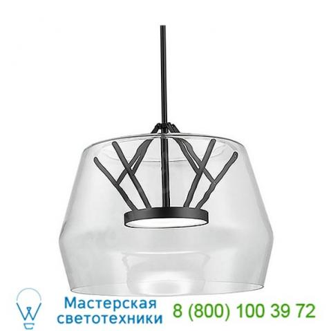 Kuzco lighting deco led pendant light pd61418-cl/bk, светильник
