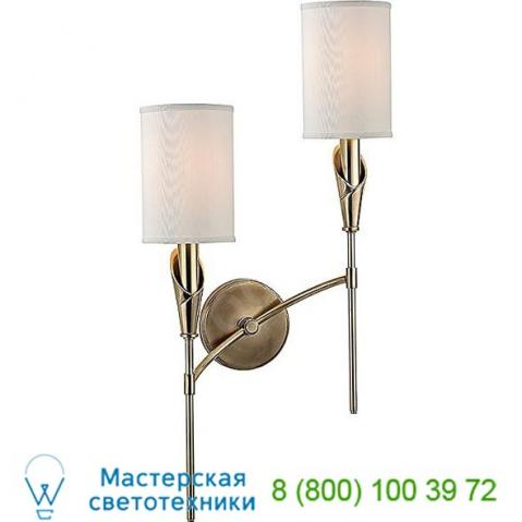 1312r-agb hudson valley lighting tate two light wall sconce, настенный светильник бра