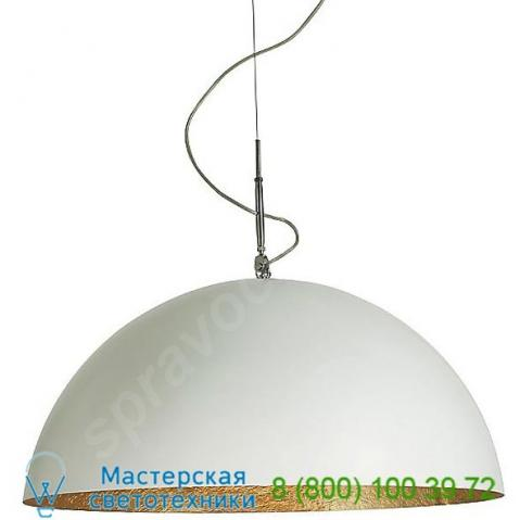 Mezza luna pendant light mezza luna 1 white transparent in-es art design, светильник